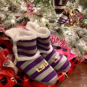 NWT 🏈 LSU Tigers Boot Slippers Size 7/8 Medium🐯